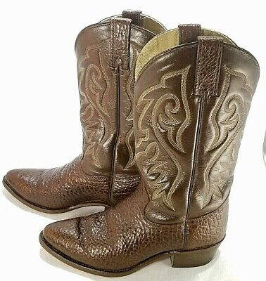 Wrangler Cowboy Boots with dual-colored 7 Stitch & Pebbled leather Mens Size 9