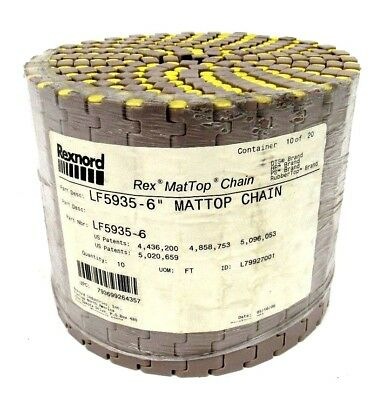 New Rexnord Lf5935-6 Mattop Chain Lf59356 10Ft