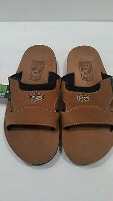 19b0ee5ae Men s Island Slipper Slide Lug Sole Suede Brown Island Pro Sandal Size 8M  NEW