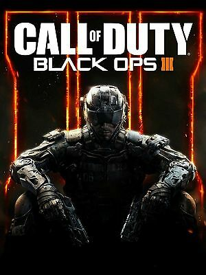 CALL OF DUTY BLACK OPS III 3 GAME Poster Print A3 260GSM