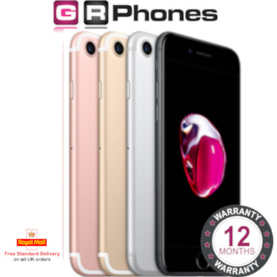 Apple iPhone 7 32GB 128GB 256GB Unlocked Black Rose Gold Silver Red Smartphone