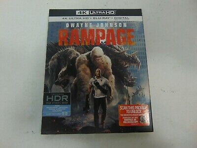 Rampage 4K Ultra HD, Blu-Ray, and Digital Movie With Slip Cover