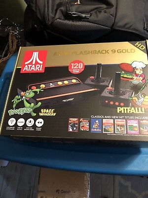 Atari Flashback 9 Gold HD Classic Game Console 120 Built-in Games HDMI 720p