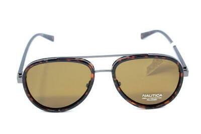 d42cb68b7f NAUTICA MEN S N4627SP Polarized Aviator Sunglasses DARK TORTOISE 57 ...