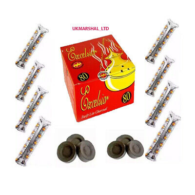 Shisha Excelsior Swift-Lite Charcoal Tablets Hookah Incense Burner Coal