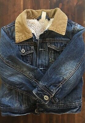 340f5729c BABY GAP DENIM Sherpa Jacket Sz 4T -  24.99