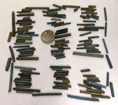More than a Hundred 2500 Year old Ancient Egyptian Faience Mummy Beads (K4660)