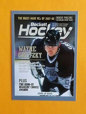 2017 Beckett Magazine Promo Card Wayne Gretzky #d To 5000