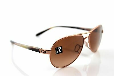 b0f03848e71 NEW Oakley Sunglasses Tiebreaker 4108-08 Rose Gold Aviator Brown Lens  Authentic