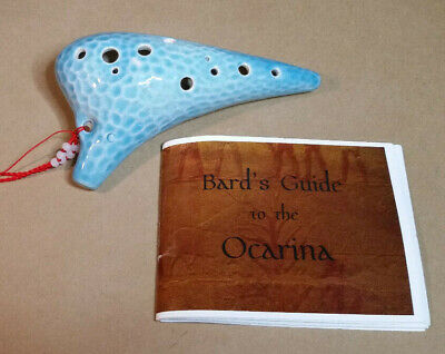Legend Of Zelda Ocarina From John Coiner Pottery Studio Handmade W/ Songbook Japanese, Anime Ocarinas