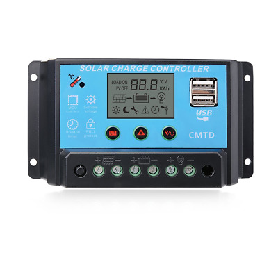 Sunix® 20A 12V/24V Solar Charge Controller Regulator Intelligent , Display...