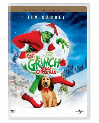 NEW Dr Seuss How the Grinch Stole Christmas (DVD WIDESCREEN  Movie jim Carrey