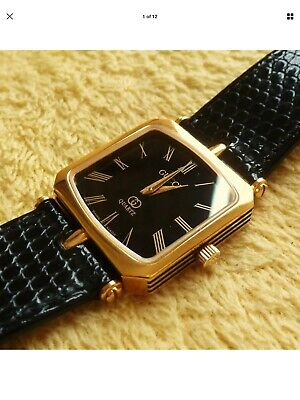 4f85fc8740f Gucci 18k Gold Plated Women s Men s Watch with Black Dial 25mm (NR329)