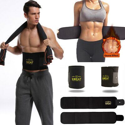 Neoprene Waist Trainer Belt Sweat Wrap Trimmer Shaper Weight Loss For Men &Women
