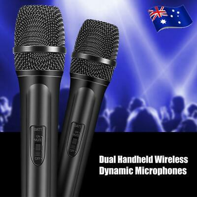 Two Channel VHF Wireless Dual Handheld Microphone System 2 Microphones Included