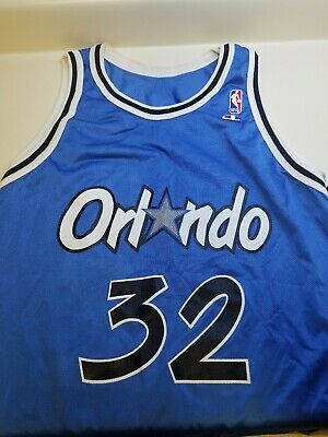 e47c086c9 VINTAGE SHAQUILLE O NEAL Orlando Magic  32 Champion NBA Jersey Size ...