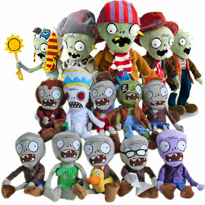 Plants vs Zombies PVZ Figures Plush Baby Staff Toy Stuffed Soft Dolls 15cm-30cm