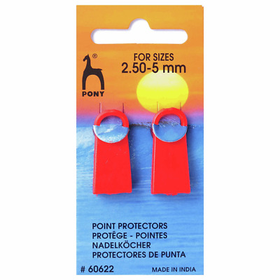 Polysew Knitting Needles Knitting Pin Point Protectors 4mm-7mm