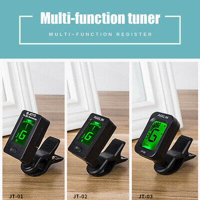 Chromatic Clip-On Digital Electric Tuner For Acoustic Bass Guitar Ukulele Violin
