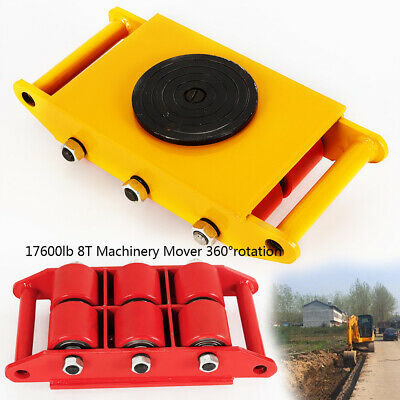 8Ton Heavy Duty Machine Dolly Skate Roller Machinery Mover 17600lb 360° USA!!!