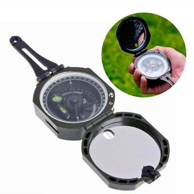 High Precision Magnetic Pocket Transit Geological Compass Scale 0-360 Degrees