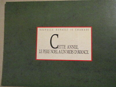 Catalogue Auto : Renault : 19 Chamade Annees 1990