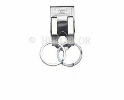 Security Belt Key Ring Clip On Quick Release Keychain Key Holder Stainless Steel