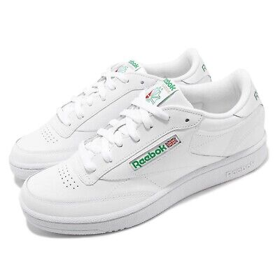 84fed655e5c Reebok Club C 85 White Green Men Classic Casual Lifestyle Shoes Sneakers  AR0456