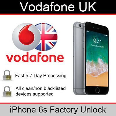 Vodafone UK iPhone 6s Factory Unlocking Service