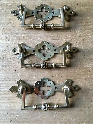 Set Arts And Crafts Antique Drawer Handle Pulls Aesthetic Movement Solid Brass
