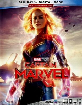 Authentic Captain Marvel Blu-ray & Digital Copy Code Pre-Order June 11th Release