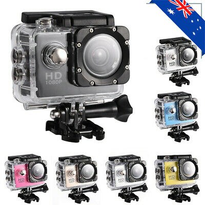 Action Camera Sports DV Camcorder Video Recorder 30m Water-resistant DVR AU