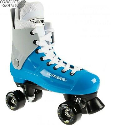 "SUPREME ""Bravo"" Quad Rollerskates Complete 8uk only Blue/Grey Skates SALE"