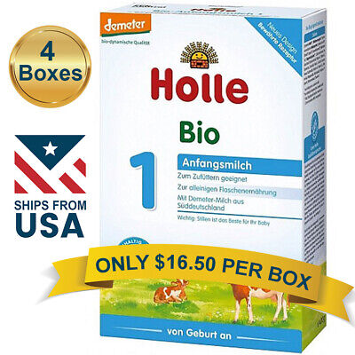 4 BOXES Holle Cow Milk Stage 1 Organic Formula (400g) FREE SHIPPING