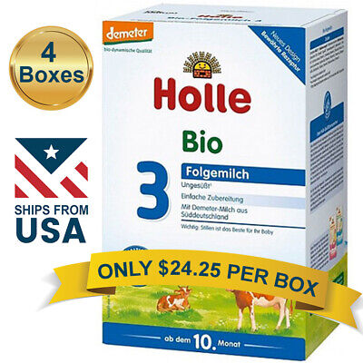 4 BOXES Holle Cow Milk Stage 3 Organic Follow-On Formula (600g) FREE SHIPPING