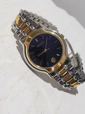 6723bb64d81 VINTAGE GUCCI 8000M Two Tone Gold Plated and Stainless Steel Men s ...
