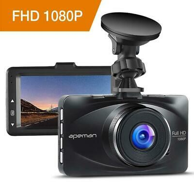 "apeman Dash Cam 1080P FHD Car Dashboard Camera DVR Driving Video Recorder 3"" LCD"