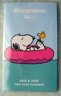 PEANUTS 2019-2020 TWO YEAR PLANNER POCKET CALENDAR SNOOPY NEW HALLMARK Happiness