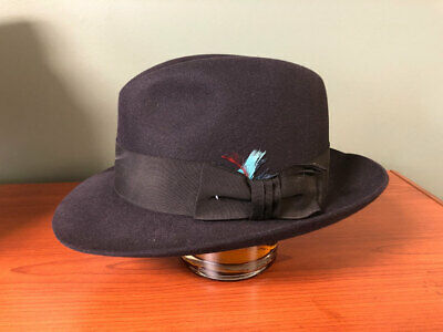 VINTAGE AUTHENTIC HUCKEL SELCO Rover Style Fedora Hat Never Worn ... 200b0142b9d8