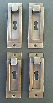 "4 Arts and Crafts Mission brass handle pull hardware antique style 3-1/8"" #H32"