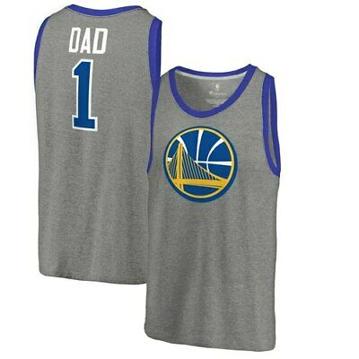 dd1f85e2 Golden State Warriors Fanatics Branded #1 Dad Tri-Blend Tank Top - Ash