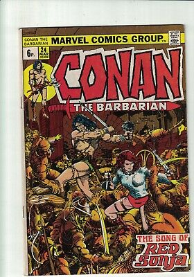 Marvel Comic Conan the Barbarian no 24 1973 6p  1st Full Red Sonja Story