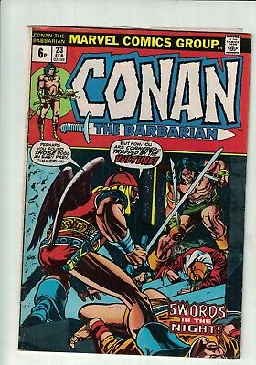 Marvel Comic Conan the Barbarian no 23 Feb 1973 6p  1st App Red Sonja!