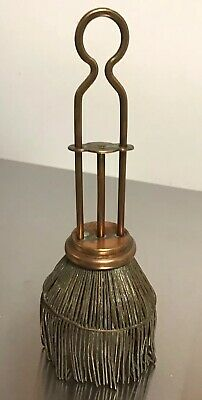 """ANTIQUE Copper Retractable 6"""" GRABBER PICKER UP FOR LIFTING COAL INTO A SAMOVAR"""