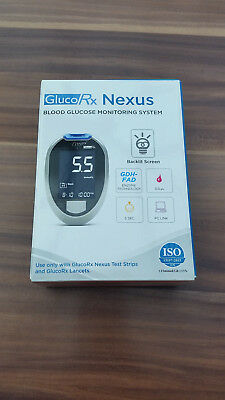 *** Gluco Rx Nexus Blood Glucose Monitoring System - New Model ***
