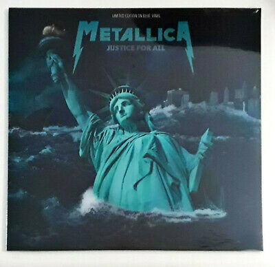 "Metallica ‎– Justice For All Lp 12"" 33 Giri Sealed CPLVNY261 Limited Blue Ed"