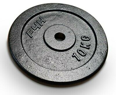 """F4H Cast Iron 1"""" Weight Plates for Dumbbell Weight Lifting Bars - 2.5 kg to 25kg"""
