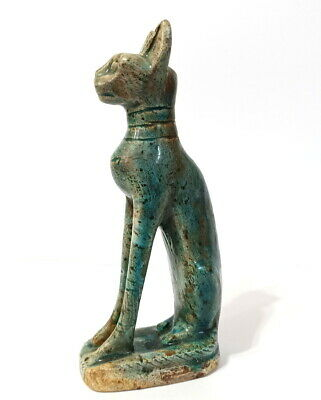 Bastet Rare Ancient Egyptian Antique Statueette Bast Goddess Amazing Statue