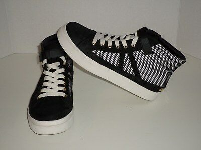 0cd24c10840a Juicy Couture Macks Black White Women s High Top Sneakers Size 8.5 Very Nice