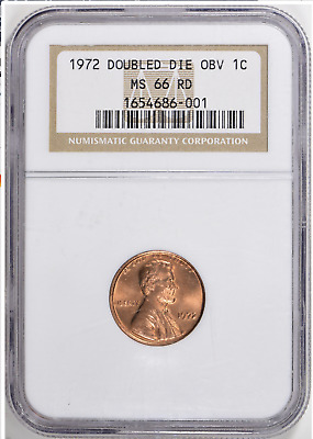 1972/72 Doubled Die Lincoln Cent * Penny * NGC MS-66 Red  * The Big One